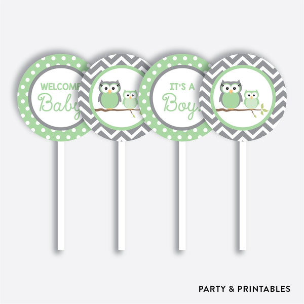 Owl Cupcake Toppers / Non-Personalized / Instant Download (SBS.48)