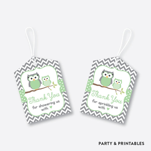 Owl Favor Tags / Non-Personalized / Instant Download (SBS.48)