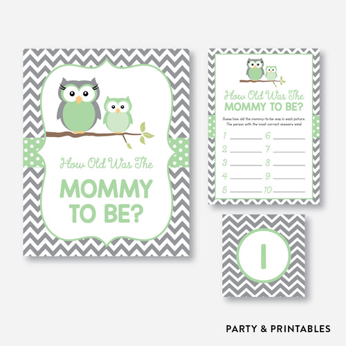 Owl How Old Was Mommy To Be / Non-Personalized / Instant Download (SBS.48)