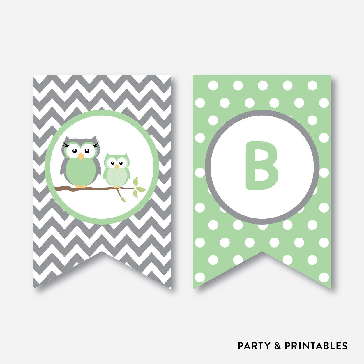 Owl Party Banner / Baby Shower Banner / Non-Personalized / Instant Download (SBS.48), party printables - Party and Printables