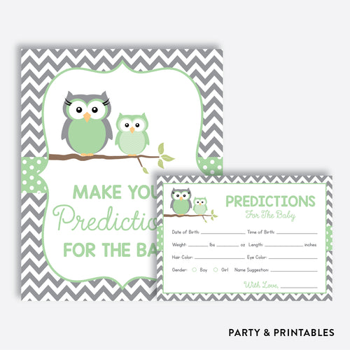 Owl Predictions For The Baby / Non-Personalized / Instant Download (SBS.48)