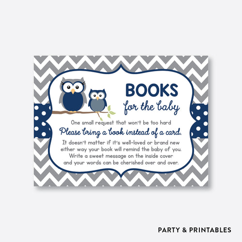 Owl Books For The Baby / Non-Personalized / Instant Download (SBS.49)