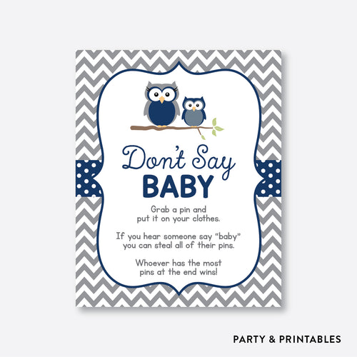 Owl Don't Say Baby / Non-Personalized / Instant Download (SBS.49)