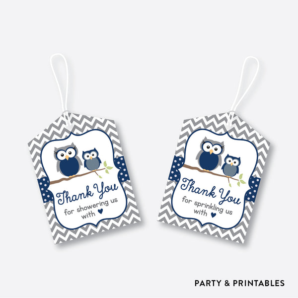 Owl Favor Tags / Non-Personalized / Instant Download (SBS.49)
