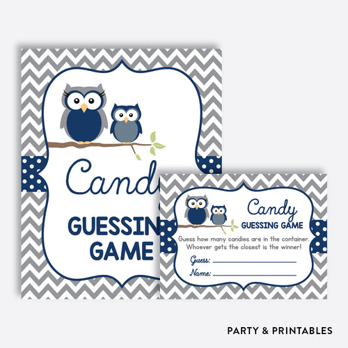 Owl Guess How Many Candies / Non-Personalized / Instant Download (SBS.49)