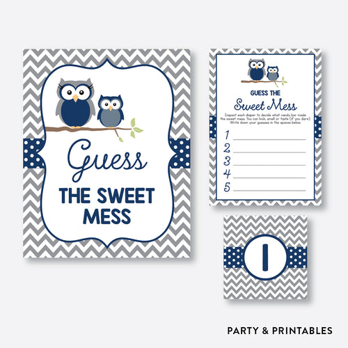 Owl Guess The Sweet Mess / Non-Personalized / Instant Download (SBS.49)