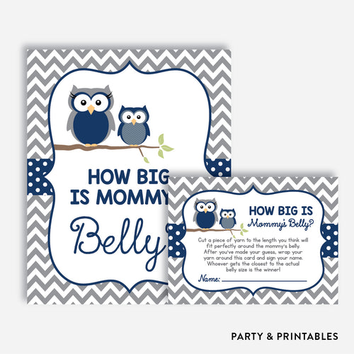 Owl How Big is Mommy's Belly / Non-Personalized / Instant Download (SBS.49)