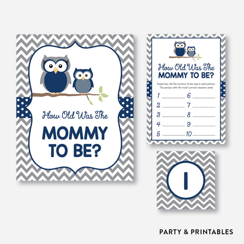Owl How Old Was Mommy To Be / Non-Personalized / Instant Download (SBS.49)