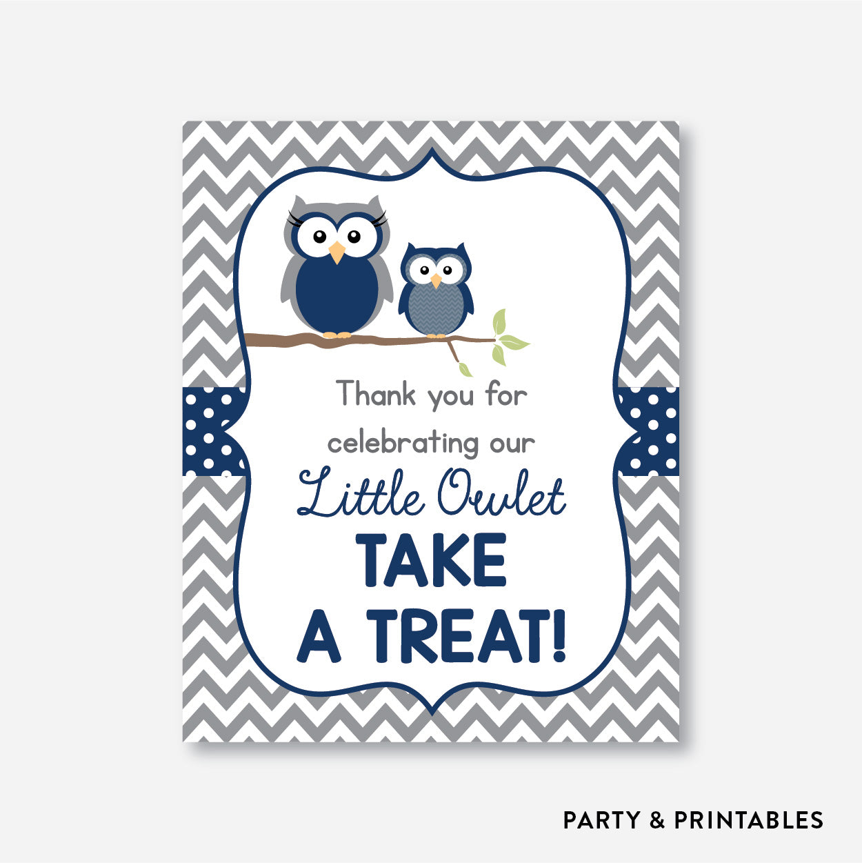 Owl Party Signs / Non-Personalized / Instant Download (SBS.49)