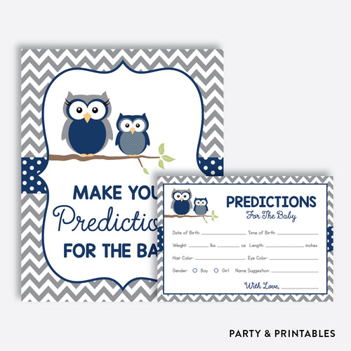 Owl Predictions For The Baby / Non-Personalized / Instant Download (SBS.49)