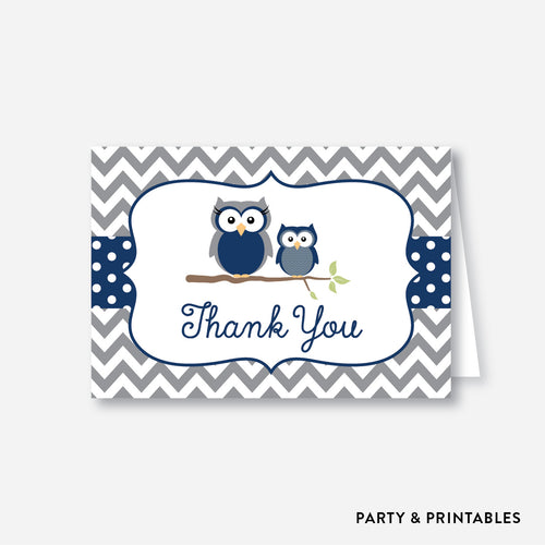 Owl Baby Shower Thank You / Non-Personalized / Instant Download (SBS.49)