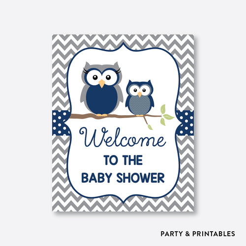 Owl Welcome Sign / Non-Personalized / Instant Download (SBS.49)