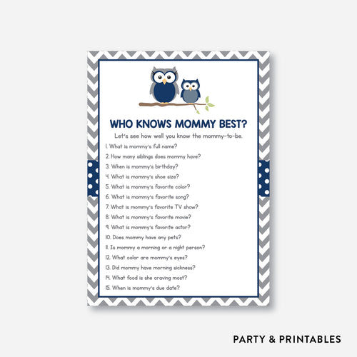 Owl Who Knows Mommy Best / Non-Personalized / Instant Download (SBS.49)