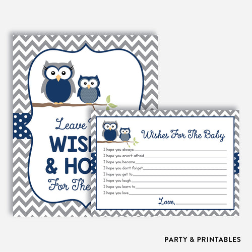 Owl Wishes For The Baby / Non-Personalized / Instant Download (SBS.49)
