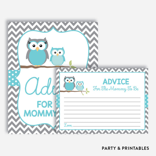 Owl Advice For The Mommy To Be / Non-Personalized / Instant Download (SBS.50)