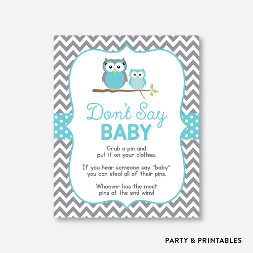 Owl Don't Say Baby / Non-Personalized / Instant Download (SBS.50)