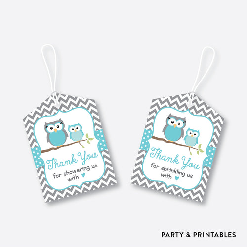 Owl Favor Tags / Non-Personalized / Instant Download (SBS.50)