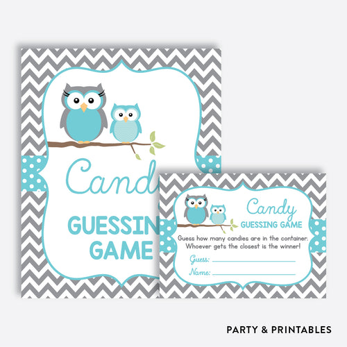 Owl Guess How Many Candies / Non-Personalized / Instant Download (SBS.50)