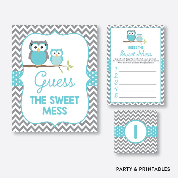 Owl Guess The Sweet Mess / Non-Personalized / Instant Download (SBS.50)
