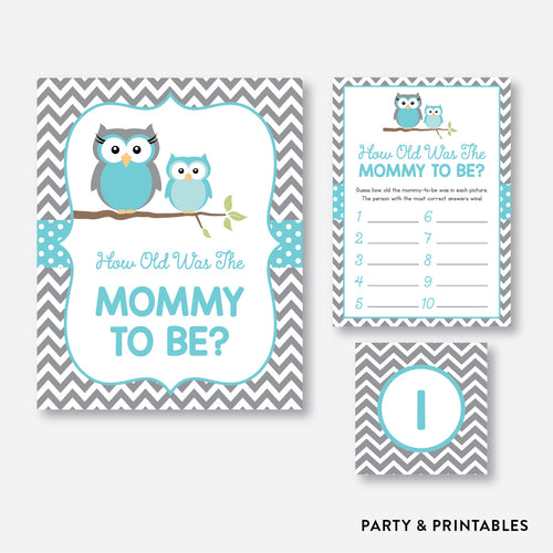 Owl How Old Was Mommy To Be / Non-Personalized / Instant Download (SBS.50)