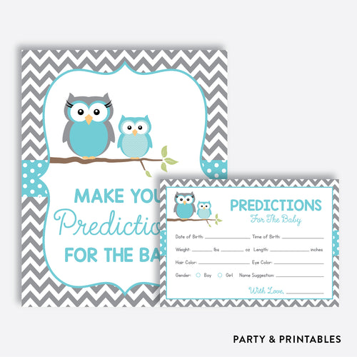 Owl Predictions For The Baby / Non-Personalized / Instant Download (SBS.50)
