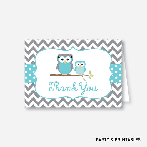 Owl Baby Shower Thank You / Non-Personalized / Instant Download (SBS.50)