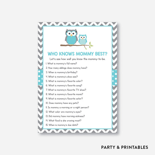 Owl Who Knows Mommy Best / Non-Personalized / Instant Download (SBS.50)