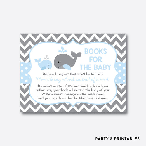 Whale Books For The Baby / Non-Personalized / Instant Download (SBS.51)