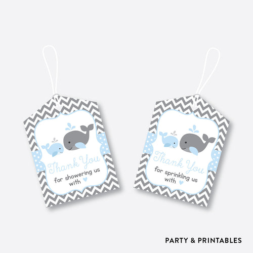 Whale Favor Tags / Non-Personalized / Instant Download (SBS.51)