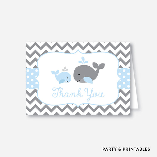 Whale Baby Shower Thank You / Non-Personalized / Instant Download (SBS.51)