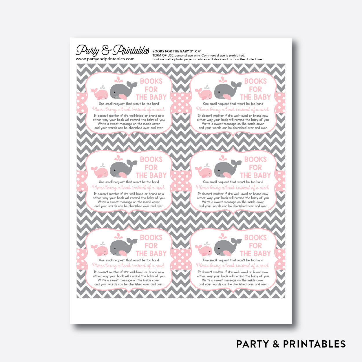 Whale Books For The Baby / Non-Personalized / Instant Download (SBS.52), party printables - Party and Printables