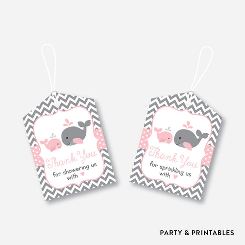 Whale Favor Tags / Non-Personalized / Instant Download (SBS.52)