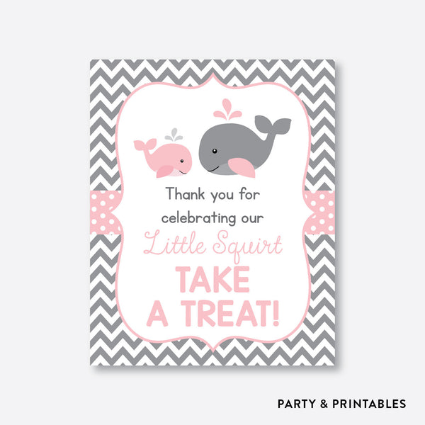 Whale Party Signs / Non-Personalized / Instant Download (SBS.52), party printables - Party and Printables