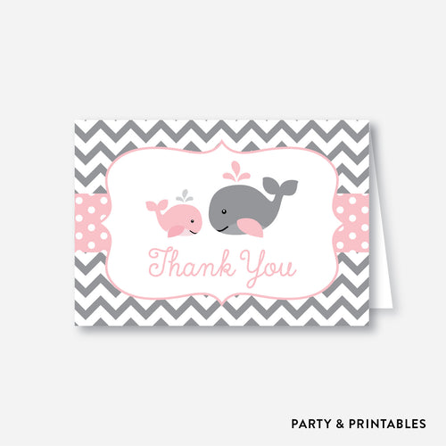 Whale Baby Shower Thank You / Non-Personalized / Instant Download (SBS.52)