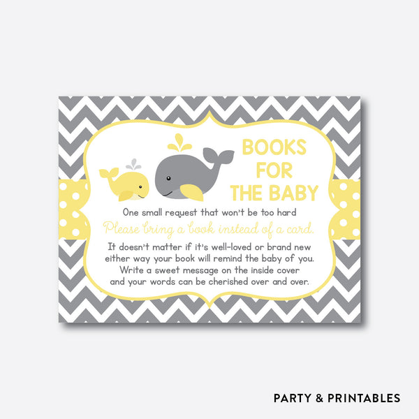 Whale Books For The Baby / Non-Personalized / Instant Download (SBS.53), party printables - Party and Printables