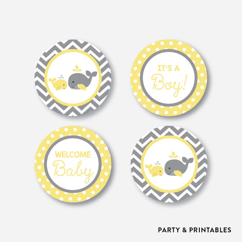 Whale Cupcake Toppers / Non-Personalized / Instant Download (SBS.53)