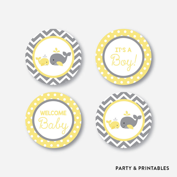 Whale Cupcake Toppers / Non-Personalized / Instant Download (SBS.53), party printables - Party and Printables