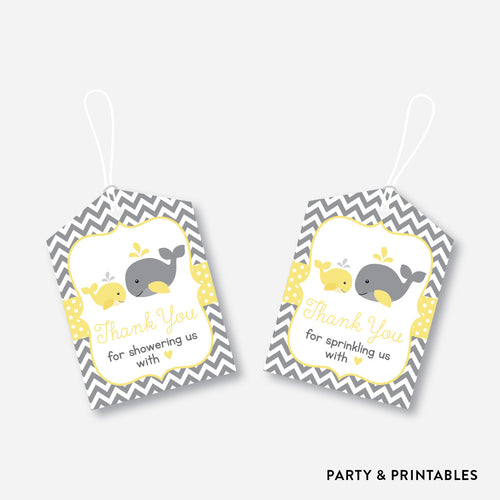 Whale Favor Tags / Non-Personalized / Instant Download (SBS.53)