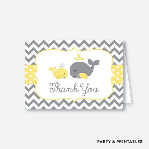 Whale Baby Shower Thank You / Non-Personalized / Instant Download (SBS.53)