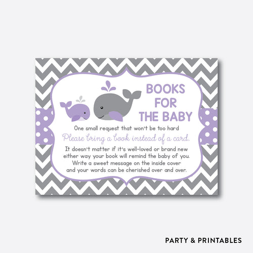 Whale Books For The Baby / Non-Personalized / Instant Download (SBS.54)