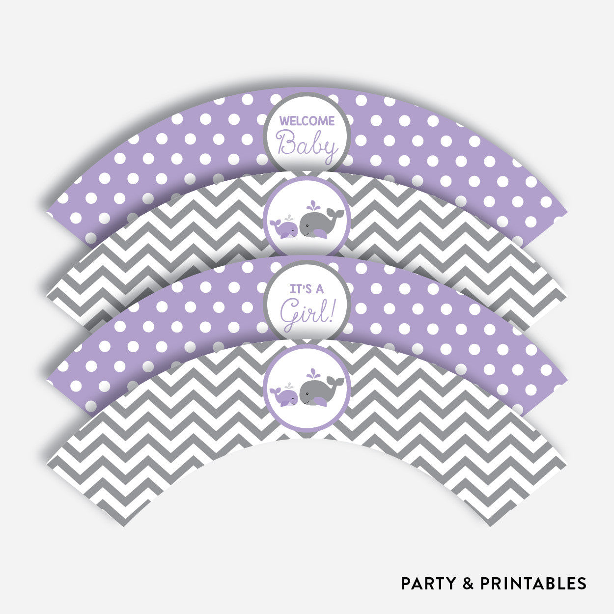 Whale Cupcake Wrappers / Non-Personalized / Instant Download (SBS.54), party printables - Party and Printables