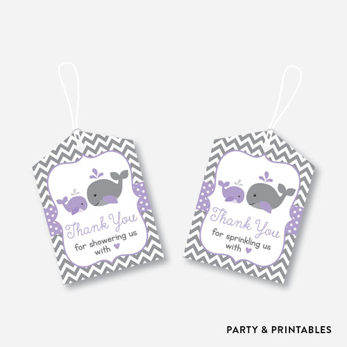Whale Favor Tags / Non-Personalized / Instant Download (SBS.54)