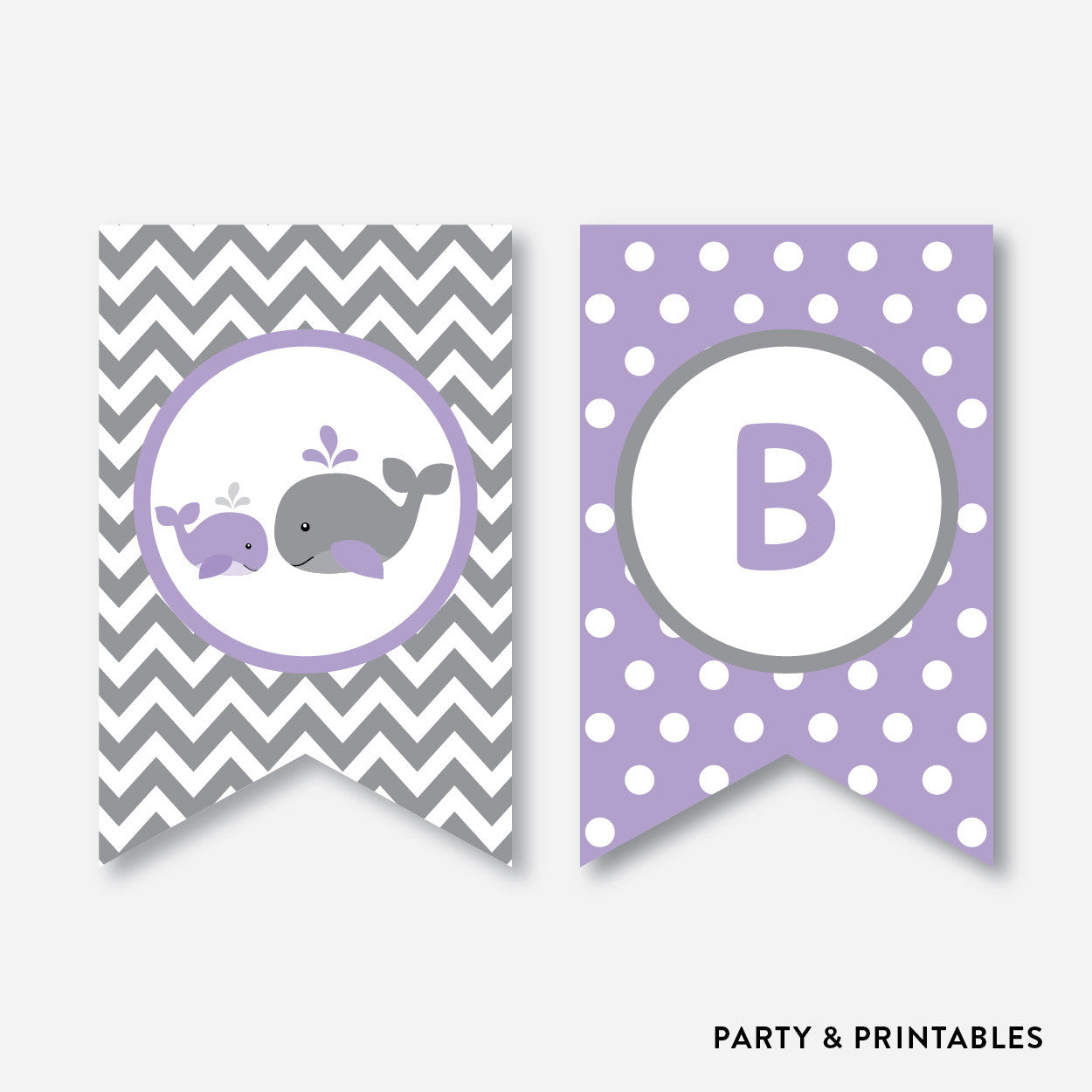 Whale Party Banner / Baby Shower Banner / Non-Personalized / Instant Download (SBS.54), party printables - Party and Printables