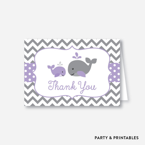 Whale Baby Shower Thank You / Non-Personalized / Instant Download (SBS.54)