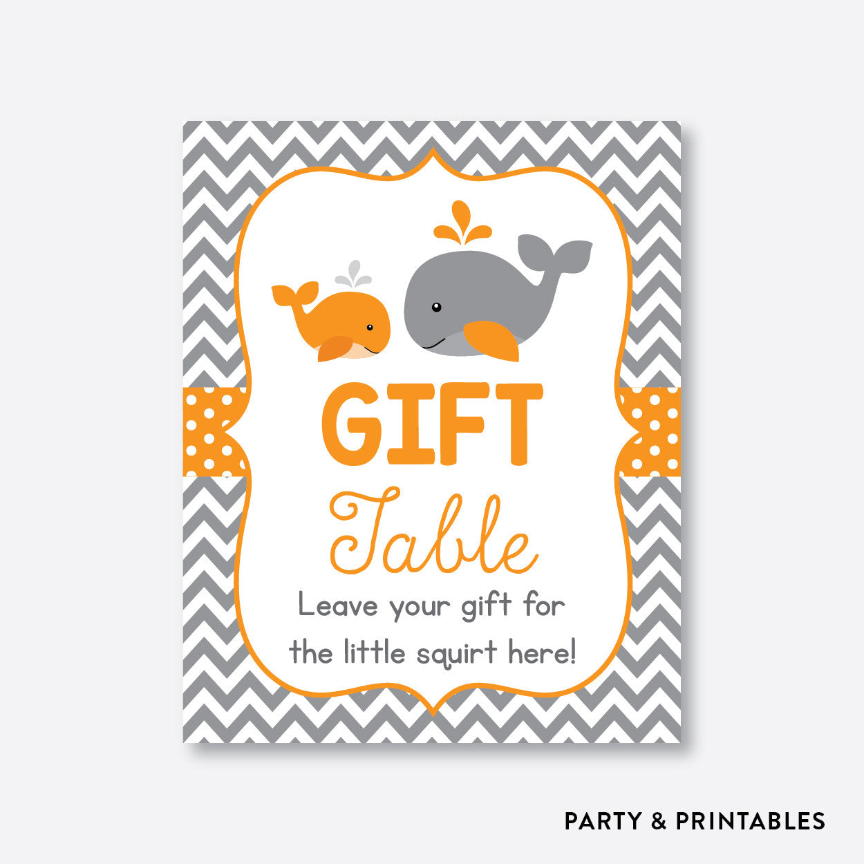 Whale Party Signs / Non-Personalized / Instant Download (SBS.55), party printables - Party and Printables