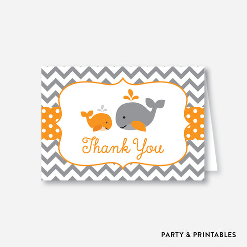 Whale Baby Shower Thank You / Non-Personalized / Instant Download (SBS.55)