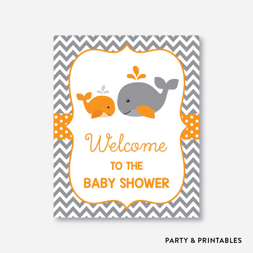 Whale Welcome Sign / Non-Personalized / Instant Download (SBS.55)