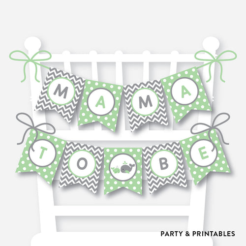 Whale Chair Banner / Baby Shower Banner / Non-Personalized / Instant Download (SBS.56)