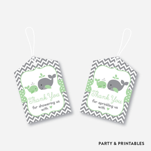 Whale Favor Tags / Non-Personalized / Instant Download (SBS.56)