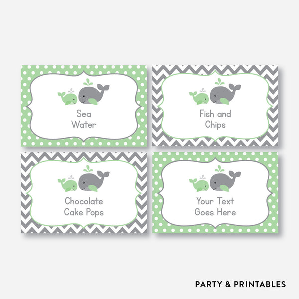 Whale Food Labels / Editable / Instant Download (SBS.56), party printables - Party and Printables